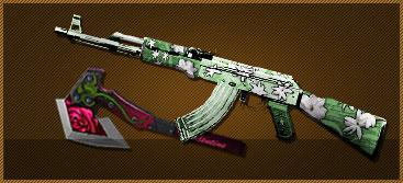 M4A1-樱(7天)+玫瑰手斧(7天)