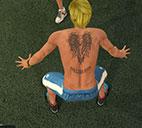 皮尔斯背部纹身