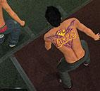 湖人队背部纹身