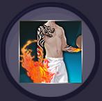 炽热火焰手臂纹身