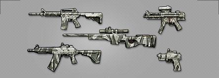 雪地迷彩全套武器