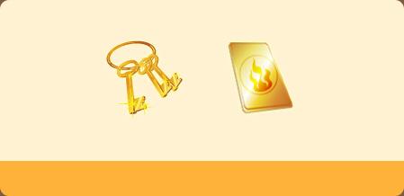 神秘钥匙*10黄金卡片*5