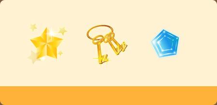 守护之星*5神秘钥匙*6飞行宝石1级*1