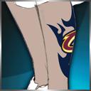 骑士logo腿部纹身(永久)