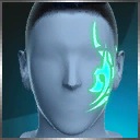 绿镰脸部纹身(永久)
