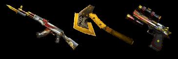 AK47苍龙+黄金军用手斧+沙漠之鹰-苍龙(7天)