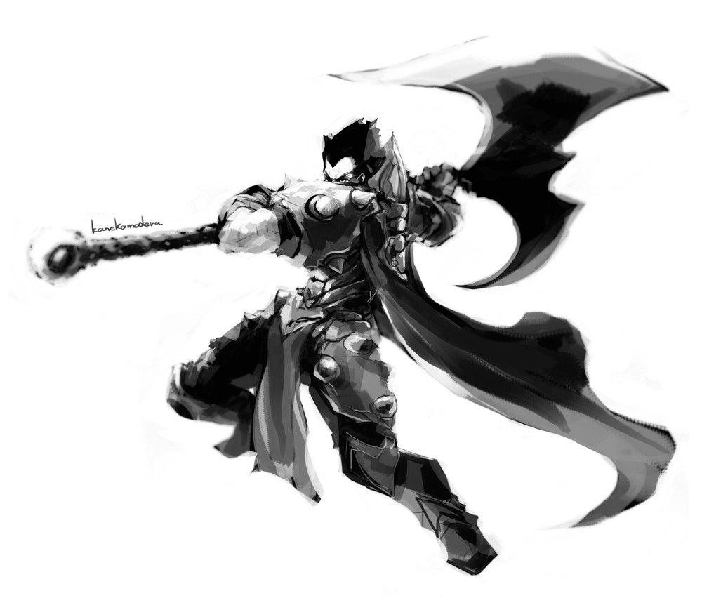 画笔能超神!韩国玩家手绘黑白英雄图