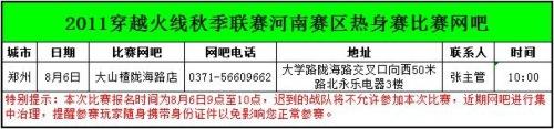 河南CF 2011年百城赛报名