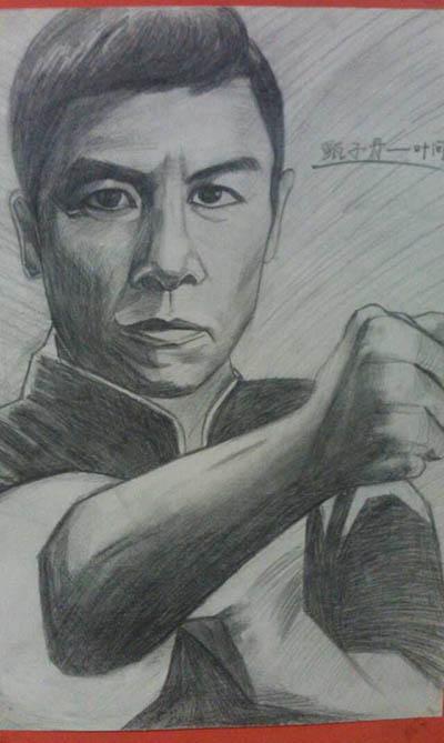 cf人物铅笔画