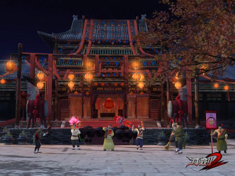 国风3d格斗网游刀剑2qq军团图片
