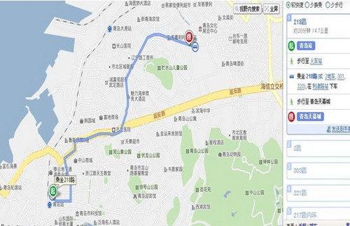 21路,305路至华阳路车站;   4)从青岛火车站至青岛天幕城:2路,320路