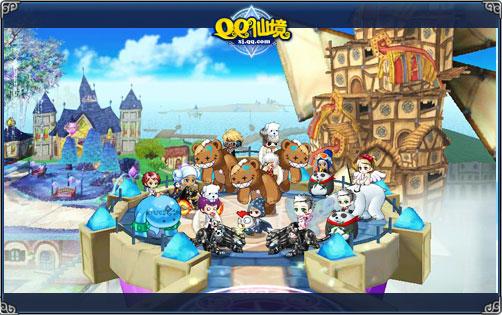 《qq仙境》是由腾讯游戏代理运营,韩国nextplay开发的超可爱横版休闲