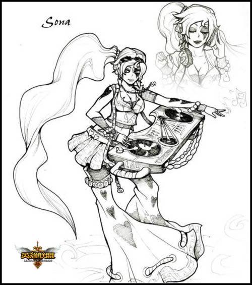 生动英雄黑白联盟美女里的众生相-世界素描-L八血统英雄国图片