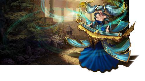 琴瑟仙女——娑娜图片