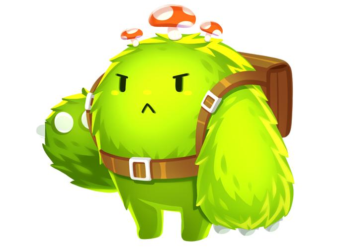 草垛菌在《天天爱消除》中的形象可谓十分呆萌,绿绒绒的发毛搭配胖墩墩的身材,就像一个大型公仔,让人忍不住想去抱一抱。身背棕色双肩包的同时,还配有一根棕色腰带,瞬间学生气十足有木有!头顶三个小蘑菇,向世人宣告着吾乃春之象征。虽然草垛菌的表情不太美好,但就是这样,才造就了呆萌感的十足性。