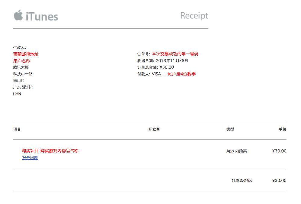 苹果充值邮件收到数据为什么点报告问题没有显示