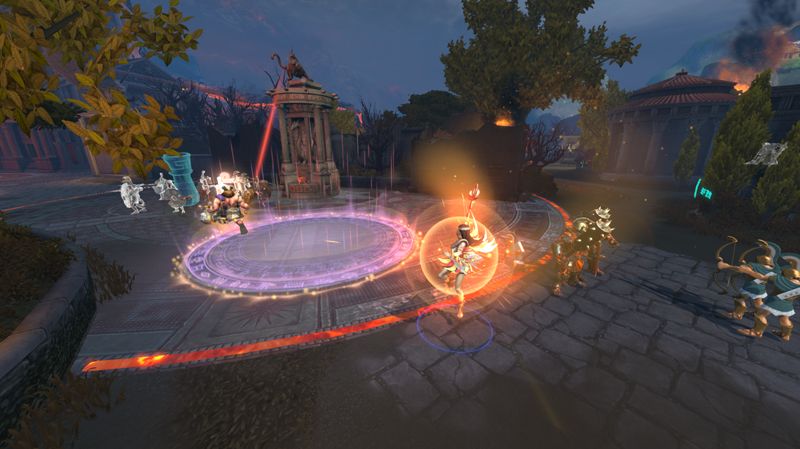 众神题材      全3d游戏场景以及第三人称追尾视角,为moba游戏带来前