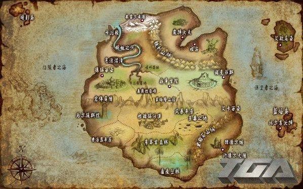 瓦罗然大陆地图