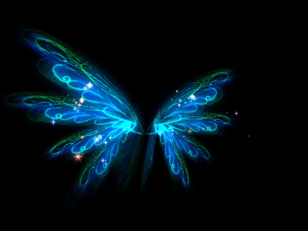 picsart素材 蓝色翅膀